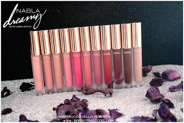Dreamy Matte Liquid Lipstick rossetto liquido nabla cosmetics  swatches