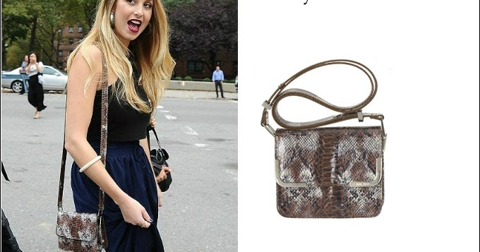 What She Wore Whitney Port With Snakeskin Shoulder Bag