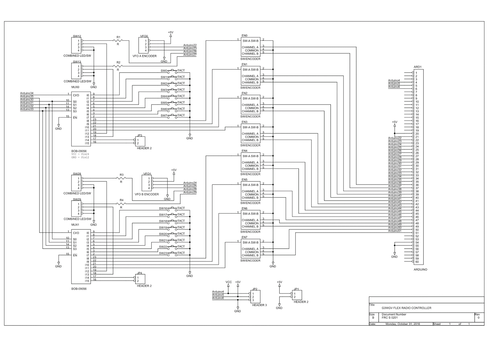 G3wgvs Flex Radio Controller Mk Ii Pcb Design Circuit Diagram My Friend The Designer Has Been Busy On First Task Is To Create A Detailed Which Can Then Be Converted Into