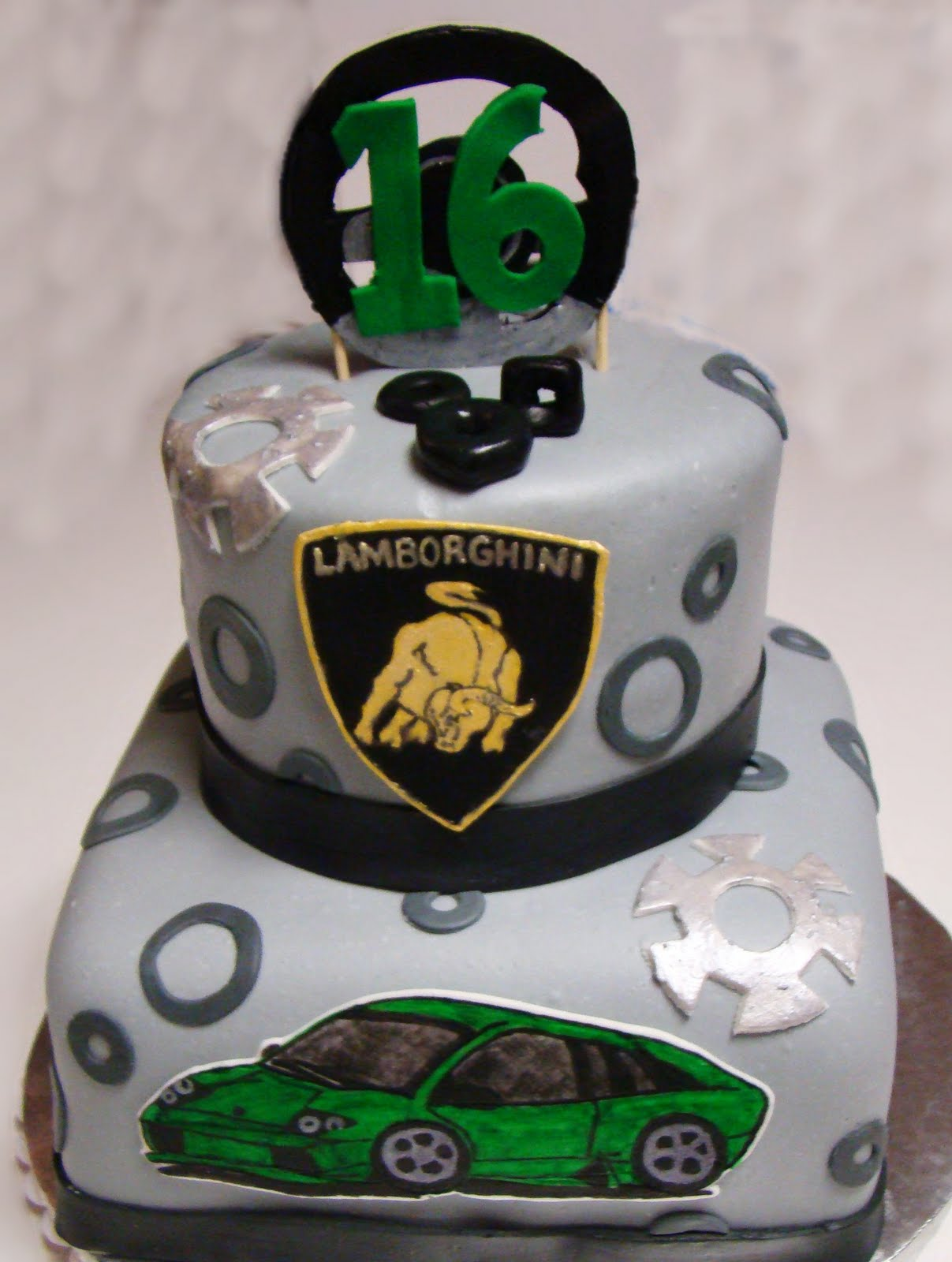 16th Birthday Lamborghini Cake