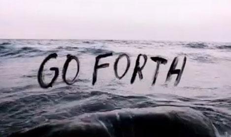 mar, anúncio, campanha, go forth