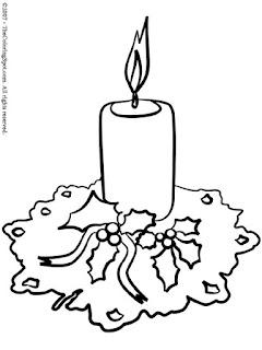 Dibujos para colorear de Velas de navidad