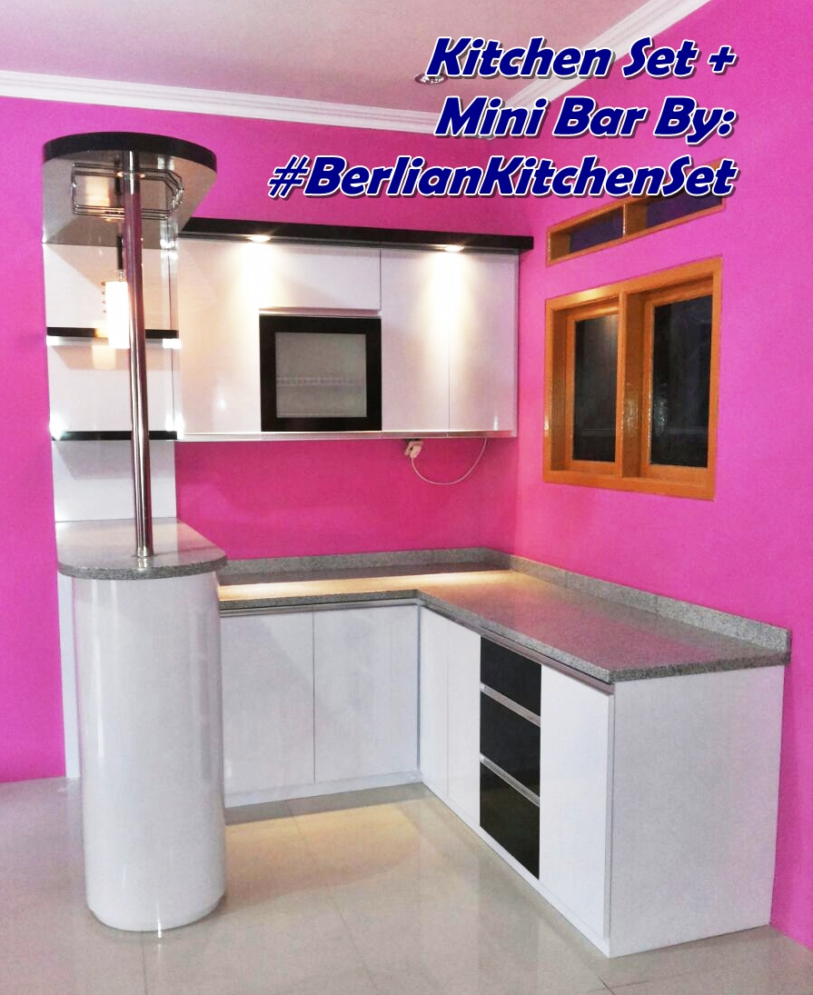 Kitchen Set Warna Coklat: Kabinet Dapur Warna Pink