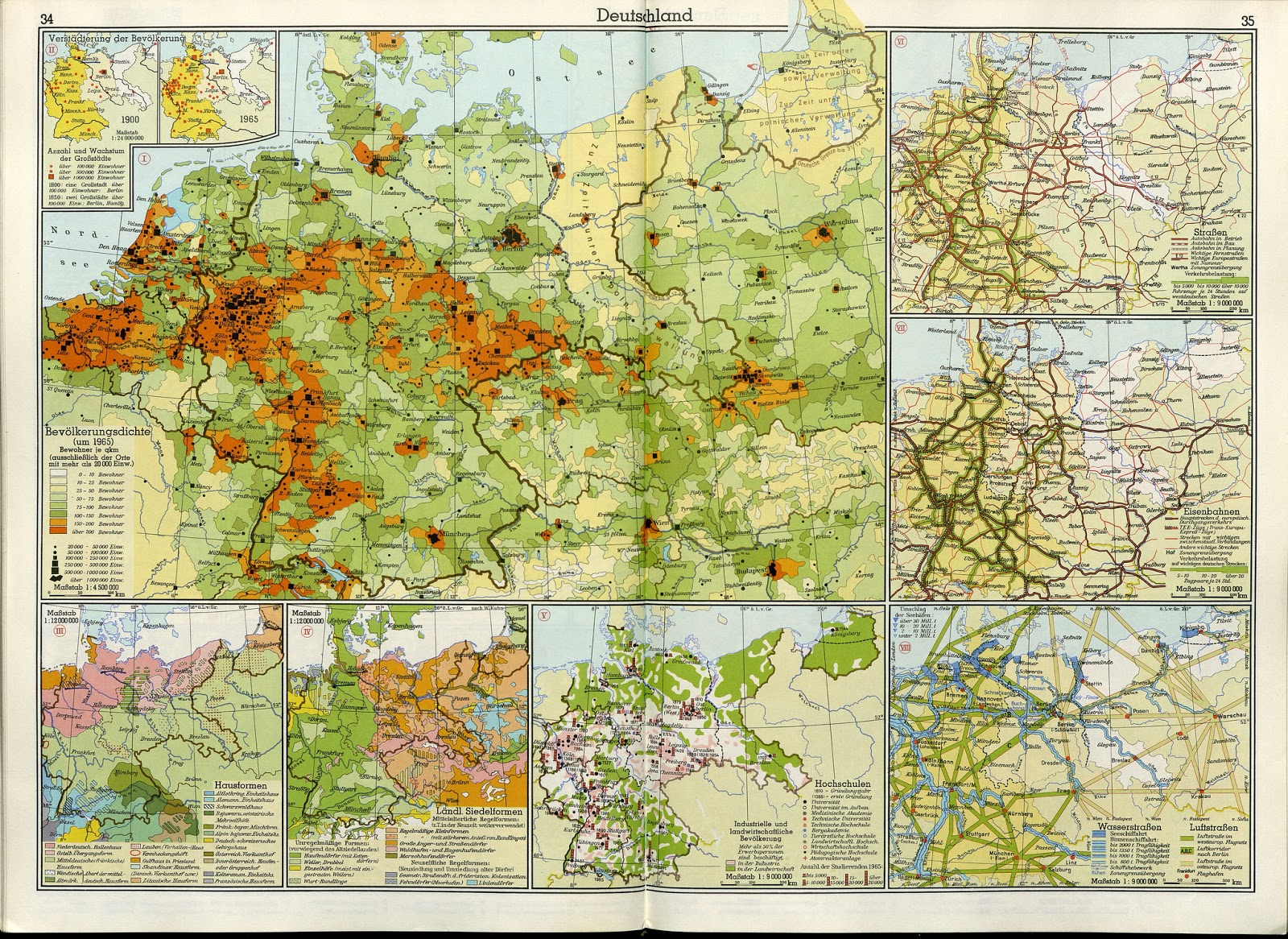 The last official German map claiming parts of Poland (1970)