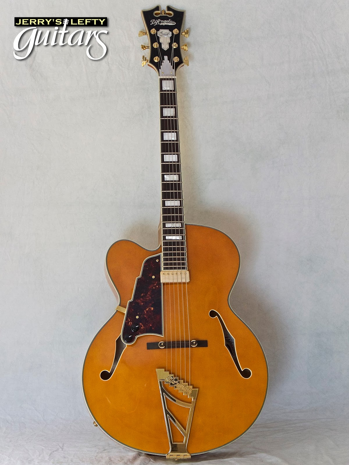 jerry 39 s lefty guitars newest guitar arrivals updated weekly d 39 angelico excel 1 used left. Black Bedroom Furniture Sets. Home Design Ideas