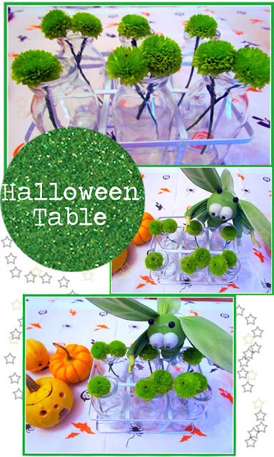 Halloween table floral idea