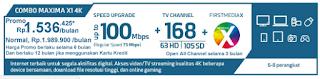 Promo First Media Paket Combo Maxima X1 HD