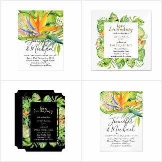 Tropical Wedding Invitations and Party Supplies Hawaiian Luau