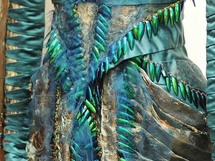 Earthly Inspiration: Jewel-Beetle Wing Dress