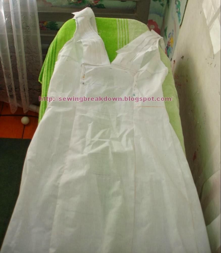d164bb9fc طريقة خياطة فستان سهرة قصير | خياطة و تفصيل