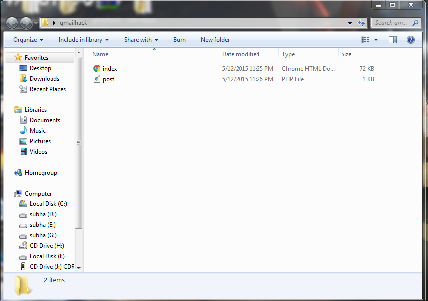 gmail phisher importent file