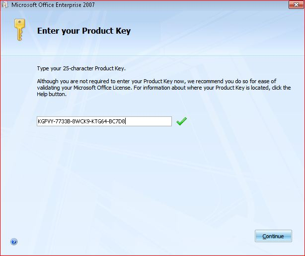 microsoft office enterprise 2007 product key 25 character