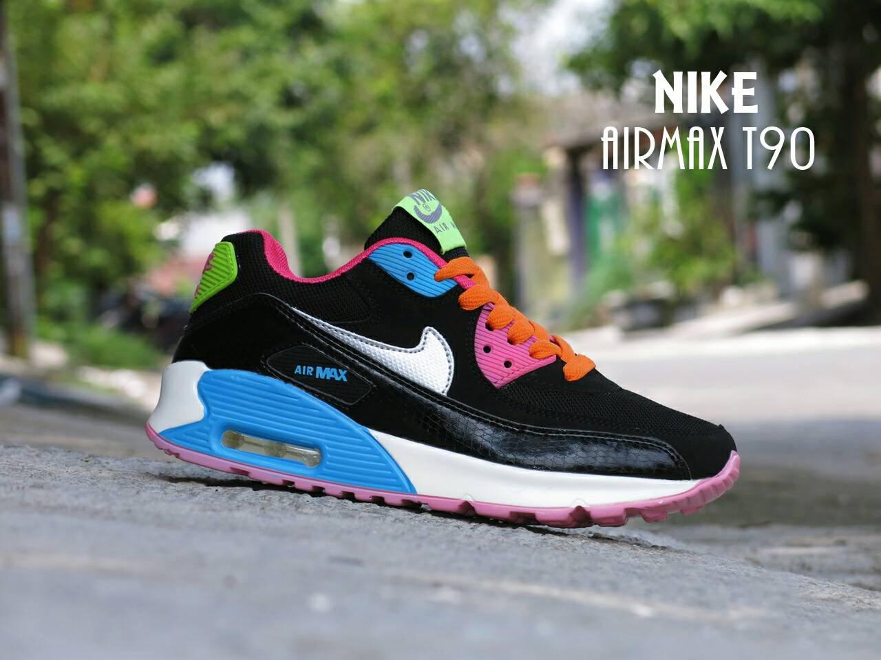 Belanja Online Nike Airmax Sepatu Kets Sport Olahraga Casual Wanita T90 Premium Import