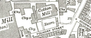 Foundry Street Mill, OS map, 1928.