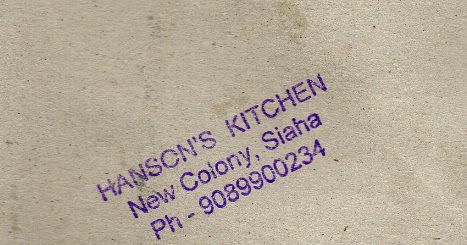 Hanson's Kitchen New Colony, Siaha
