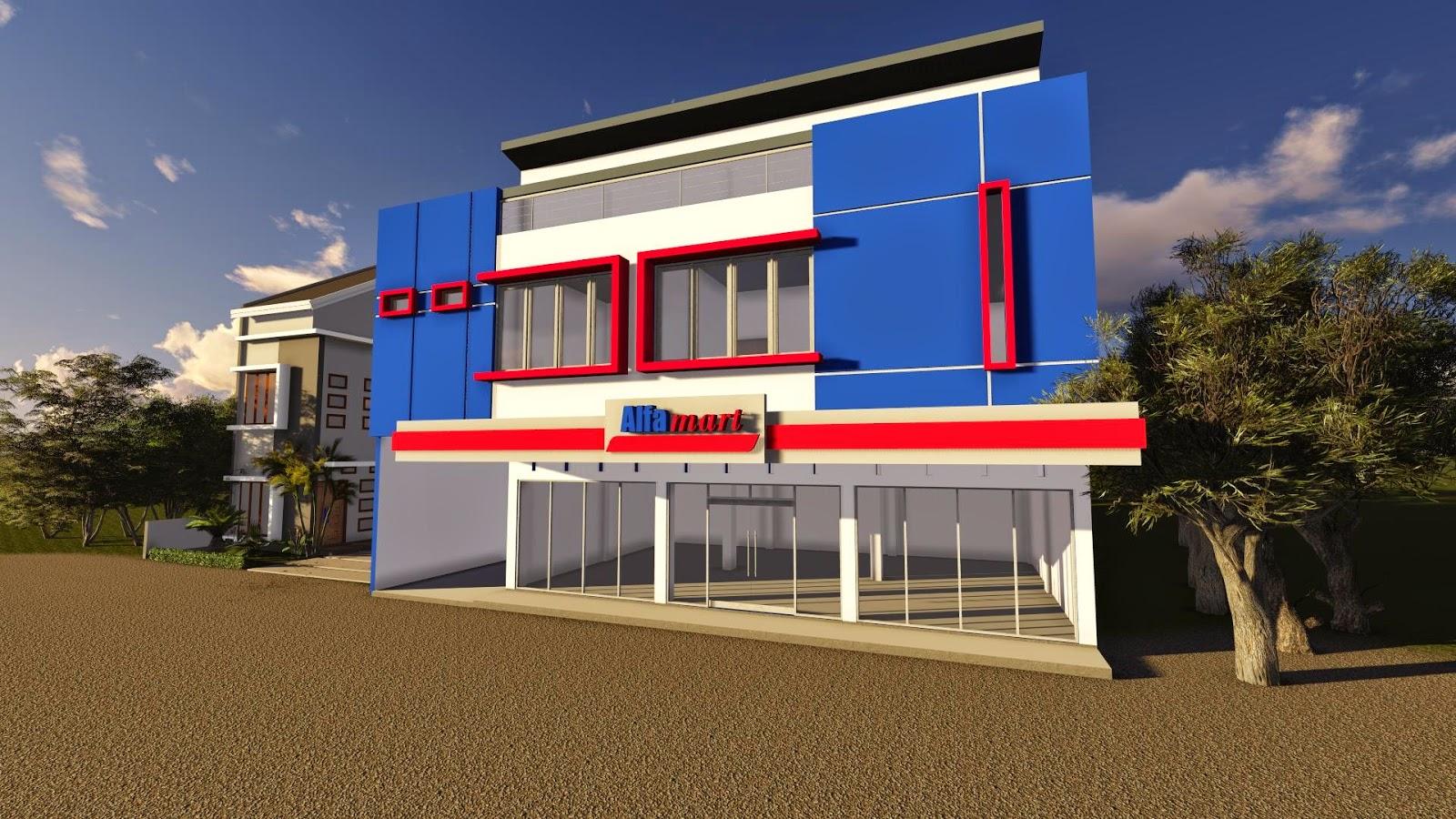 Desain Kantor Minimarket Milik Bapak I Gede Ketut Karyana Bali Jasa Desain Rumah