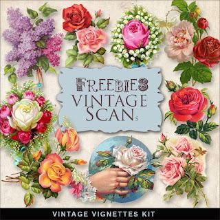 Freebies Vintage Flowers