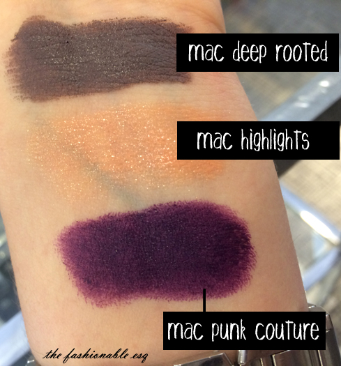 Mac lipstick swatches from the Bangin' Brilliant collection