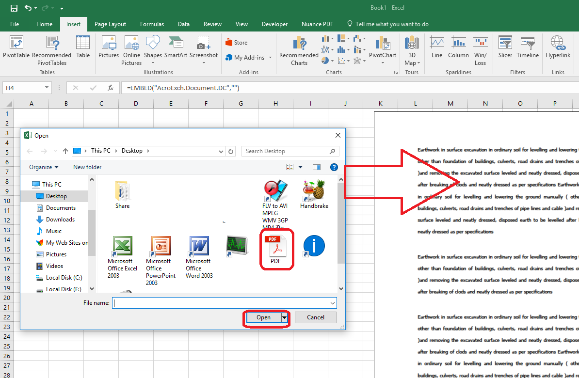 Learn New Things: How to Insert/Add PDF file into MS Excel