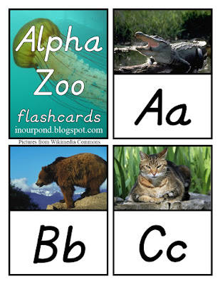 FREE Alpha-Zoo Flashcards Printables from In Our Pond