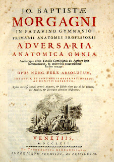 Morgagni's Adversaria Anatomica helped establish his reputation