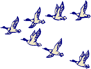 Flying goose clipart