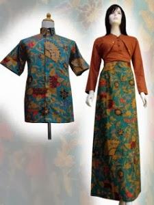 Model Baju Batik Berbagai Corak Wanita Pria Couple Muslim