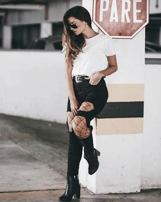 outfit basico tumblr de moda casual