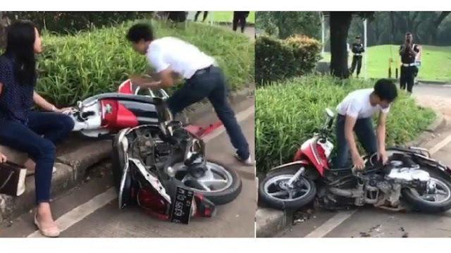 Videonya Viral, Motor yang Dirusak Pria saat Ditilang Ternyata Bodong
