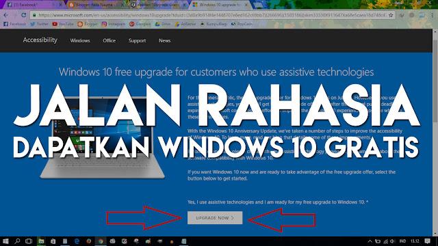 Jalur Lain Melakukan Upgrade Windows 10 Secara GRATIS!