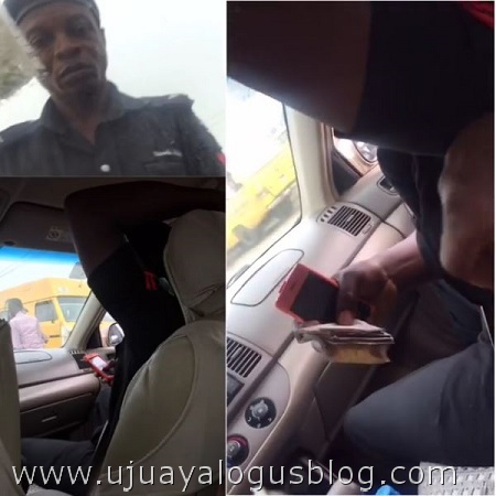 Two Corrupt Policemen Caught on Camera Obtaining Bribe in Broad Daylight (Photos+Video)