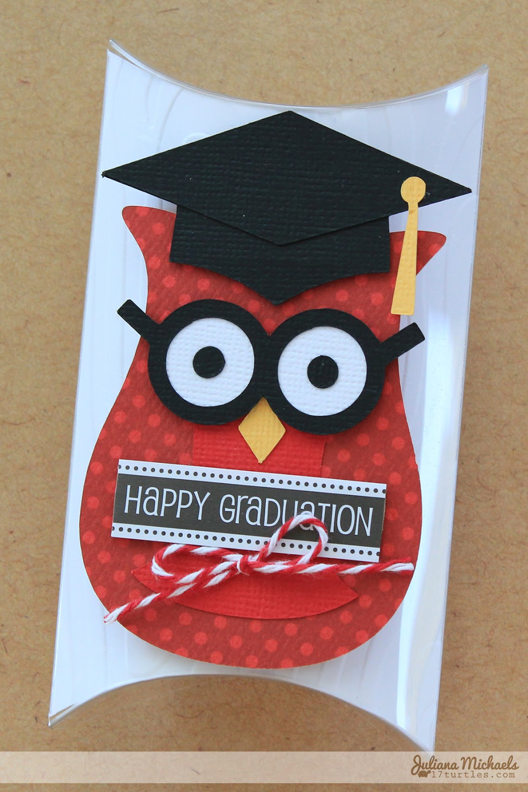 SRM Stickers Blog - DIY Graduation Pillow Boxes by Juliana  #graduation #favors  #DIY #kit #pillow box #twine #stickers