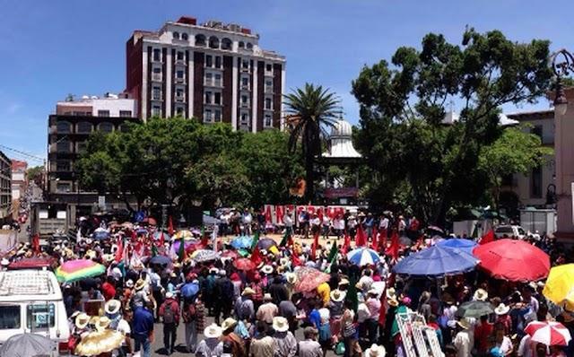 Campesinos colapsan Centro Historico con movilizaciones ¡