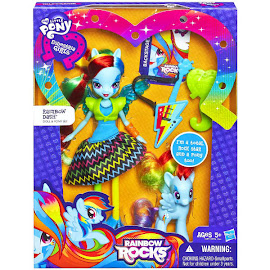 My Little Pony Doll and Pony Set Rainbow Dash Brushable Pony