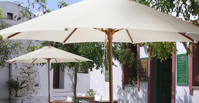 parasoles madera serie basic