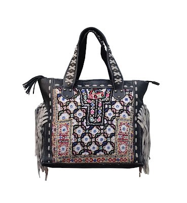 Wholesale Vintage Banjara Fringe Hand Bag Indian Hand Embroidered Hand Bag