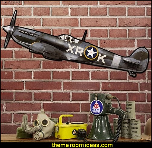 Spitfire Fighter Plane Sign   Army Theme bedrooms - Army Room Decor - Military bedrooms camouflage decorating - Marines decor boys army rooms - camo themed rooms - Military Soldier - Uncle Sam Military home decor - Airforce Rooms - military aircraft bedroom decorating ideas - boys army bedroom ideas - Navy themed decorating