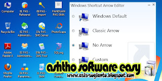 Cara Menghilangkan Tanda Panah pada Shortcut di Desktop