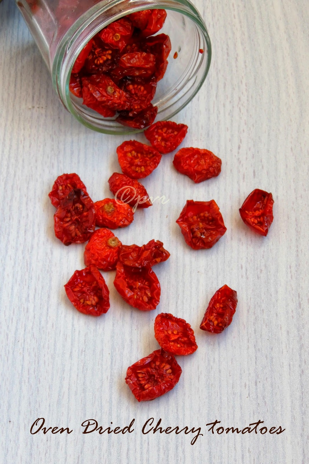 Oil less oven dried cherry tomatoes, oven dried cherry tomatoes,slow oven dried cherry tomatoes
