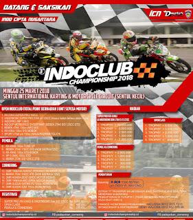 INDOCLUB ROAD RACING CHAMPIONSHIP 25 MARET 2018
