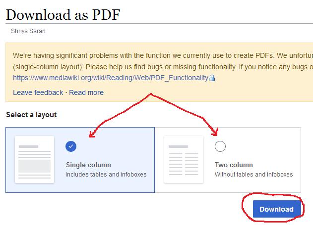 artikel wikipedia disimpan jadi pdf
