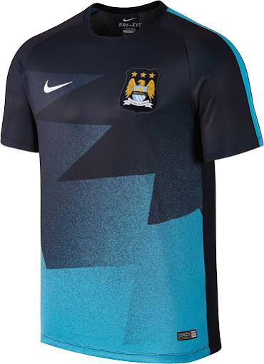 Camisetas de futbol 2018 2019 baratas: Nuevo Nike camiseta del Manchester City 2015 2016