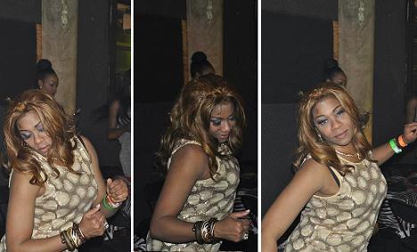regina askia dancing iyanya concert