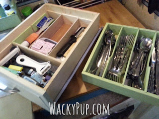 Easily Double Your Drawer Storage! This site is full of great ideas for small spaces!