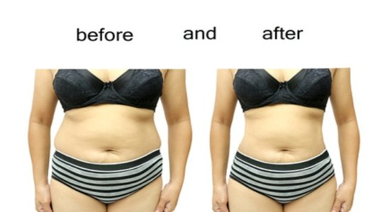 tummy fat before and after