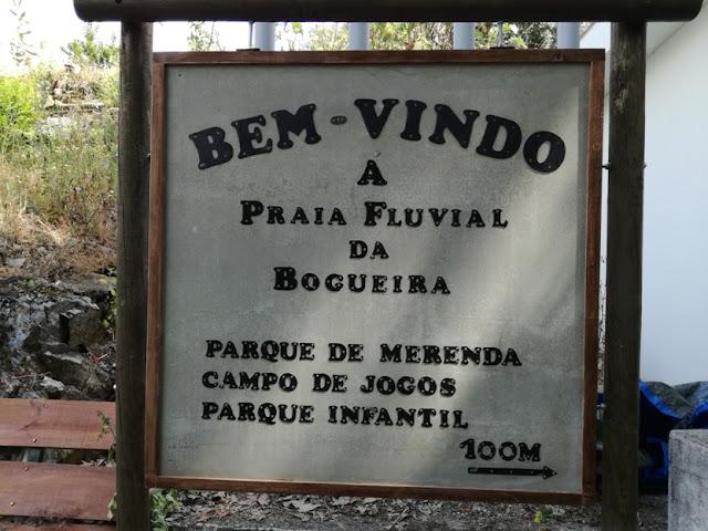 Placa Praia Fluvial da Bogueira