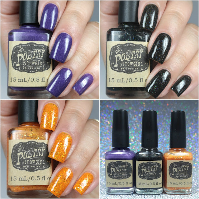 Poetry Cowgirl Nail Polish - Spooky Spirits Halloween 2016 Trio