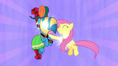 Meadowbrook and Fluttershy using their Element