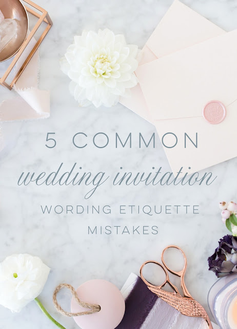 Wedding Invitation Wording Etiquette - 5 Common Mistakes