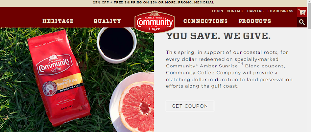 community coffee coupons amber sunrise
